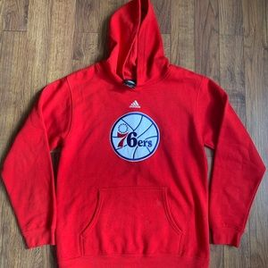 Adidas NBA 76ers Sixers hoodie Youth Large